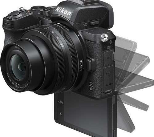 Nikon Z 50 Mirrorless Digital Camera with 180 degree flip screen
