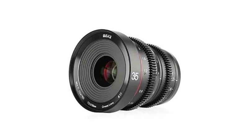 Meike 35mm T2.2 Cine prime lens for Sony E, fujifilm X and MFT cameras