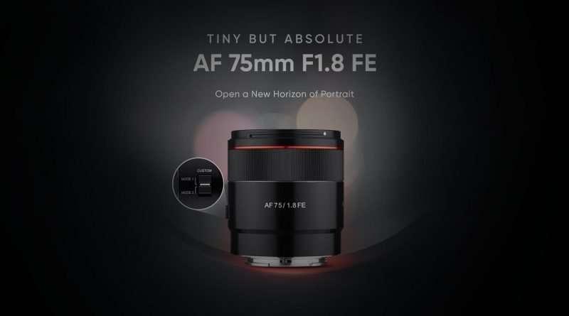 Samyang 75mm f/1.8 FE lens for Sony E Mount Full Frame Mirrorless Cameras