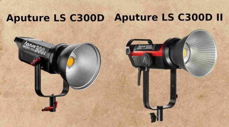 Aputure LS C300D vs C300D II LED light Comparison