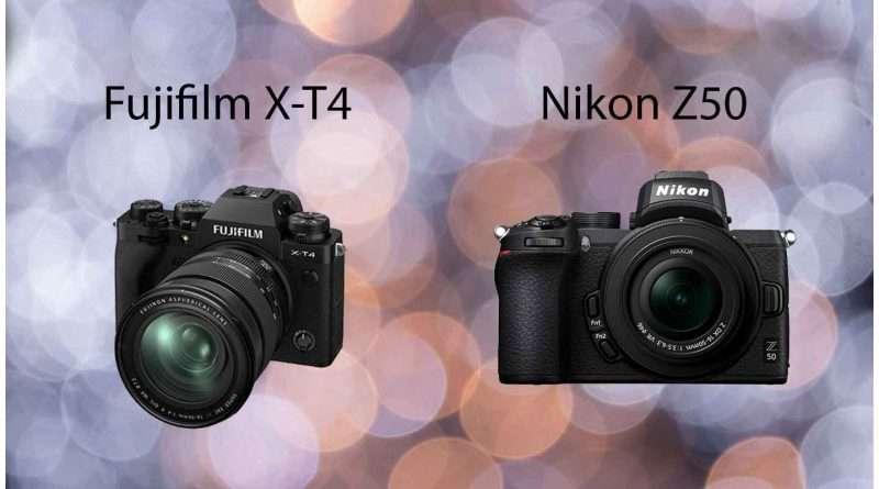 Fujifilm X-T4 vs Nikon Z50 Comparison