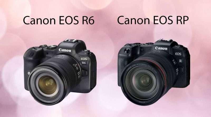 Canon EOS R6 vs Canon EOS RP comparison